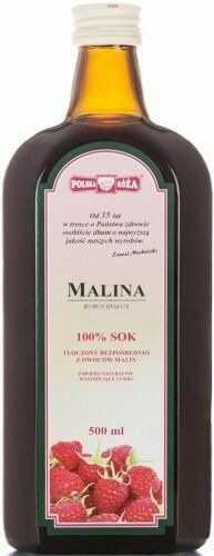 Sok z Owoców Malin 500ml - Polska Róża