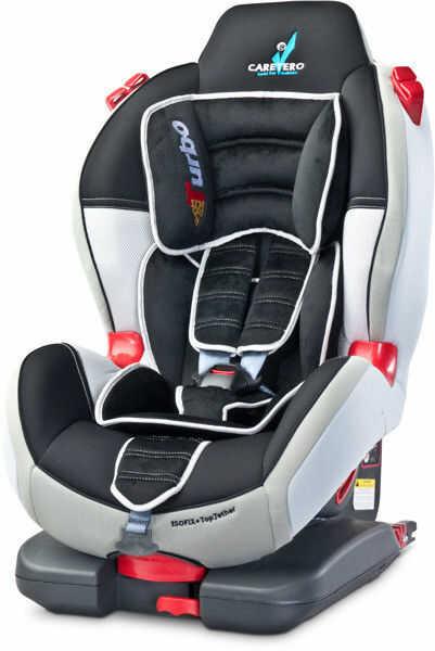 Caretero fotelik samochodowy sport turbo fix 9-25 kg grey