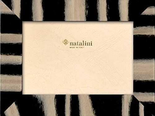 Natalini Marquetry ramka na zdjęcia wyprodukowana we Włoszech, tulipan, czarna, 12 cm x 18 cm