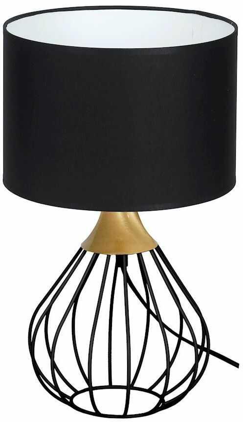 Milagro KANE BLACK MLP4797 lampa stołowa industrialna czarno-złota ażurowa 1xE27 42cm