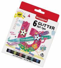 Bruynzeel Glitter Felt Tips Flamastry 6 kolorów
