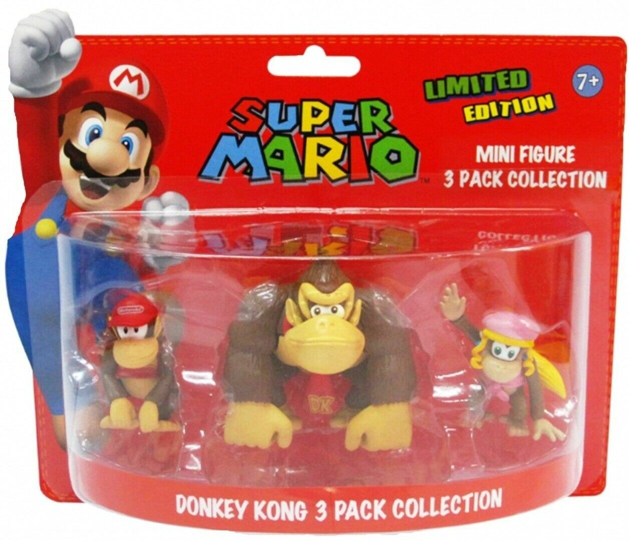 Figurki Donkey Kong Edition (Super Mario) - 3pack