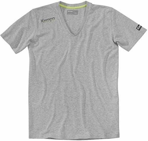 Kempa Męski T-shirt Core kołnierzyk V, szary melanż, XXL