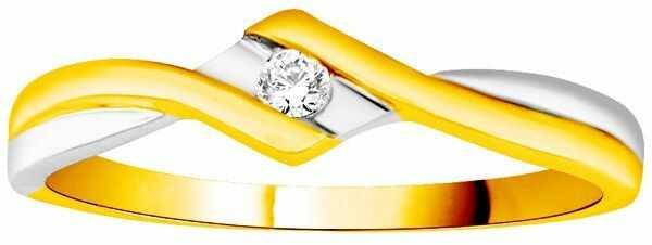 Złoty Pierścionek Zaręczynowy z Brylantem