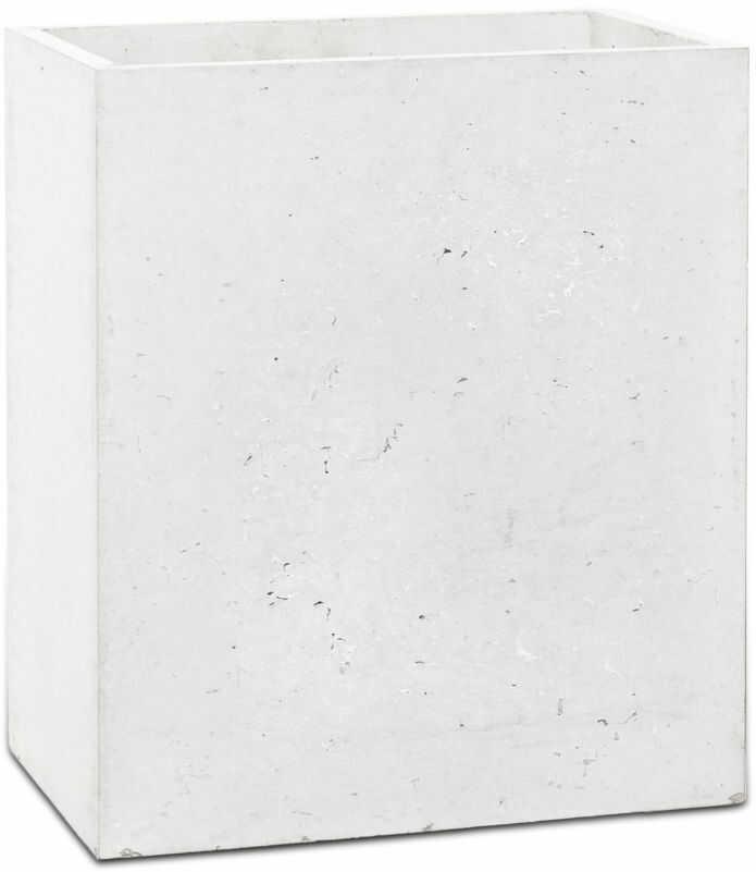 Donica betonowa LINEA S 35x22x40 biały