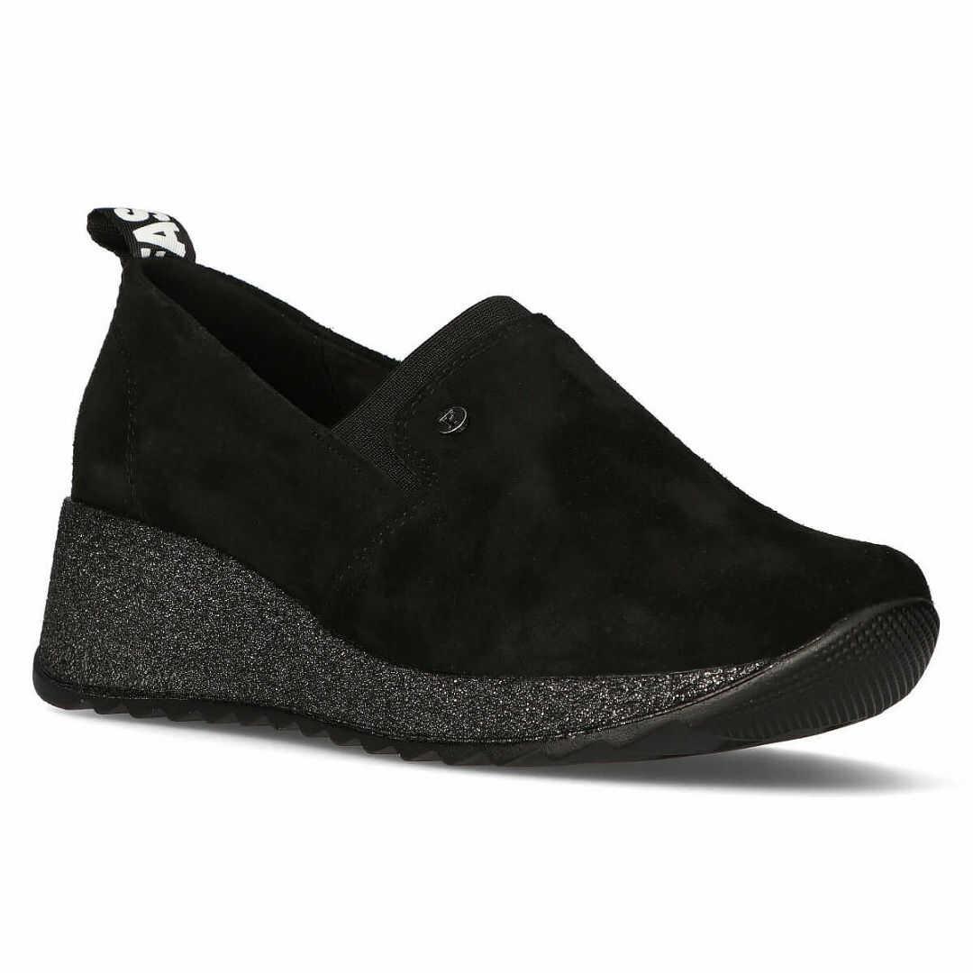 Skórzane Sneakersy Filippo DP1500/20 BK T czarne brokat
