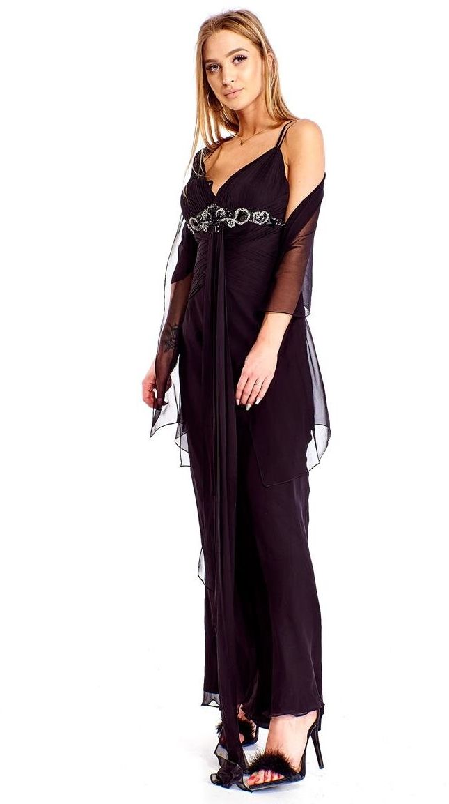 FSU701 Suknie wizytowe Sukienka CZARNY