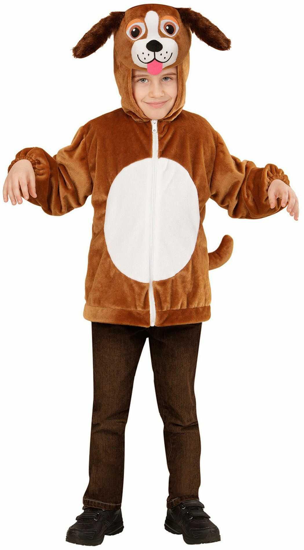 Widmann 97471 - kostium dziecięcy pies z pluszu, kurtka z kapturem i maską