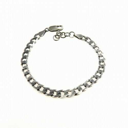 Łańcuch bransoletka srebrna szara