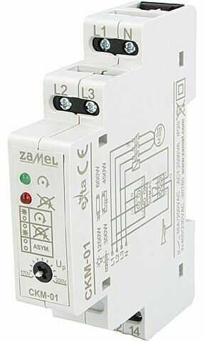 Moduł ZAMEL przekaźnik nadzorczy napięcia Montaż DIN WY1:250VAC/5A