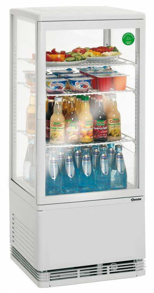 Bartscher Witryna chłodnicza Mini 78L, biała - kod 700578G