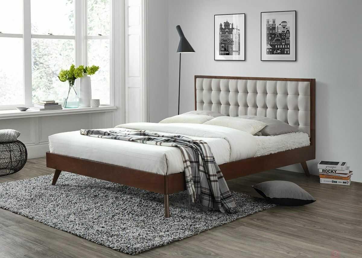 KUPON 10% NA STRONIE  Łóżko SOLOMO Halmar 160x200 cm, Orzech [Wysyłka 2020-11-17]