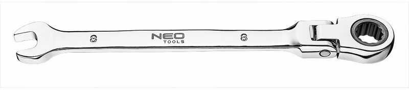 Klucz płasko-oczkowy z przegubem i grzechotką 8 x 135 mm 09-051