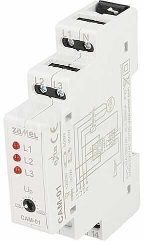 Moduł ZAMEL przekaźnik nadzorczy napięcia asymetria faz, zanik fazy