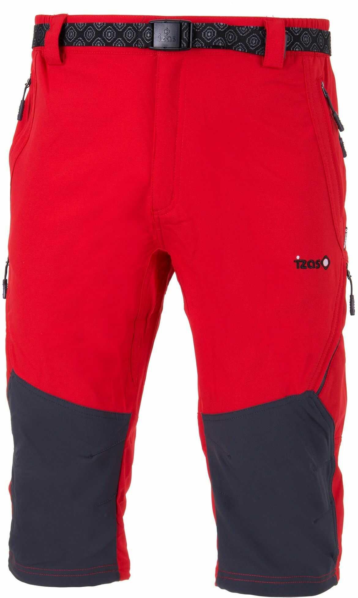 Izas spodnie Capri Lsogar czerwone/ciemnoszare XL