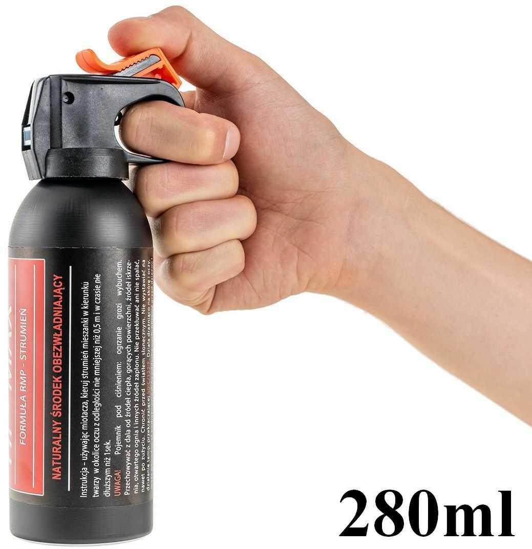 Duży Gaz Obronny/Obezwładniający HI-MAX (w strumieniu) - Poj. 280ml (zasięg rażenia 6 metrów!!).