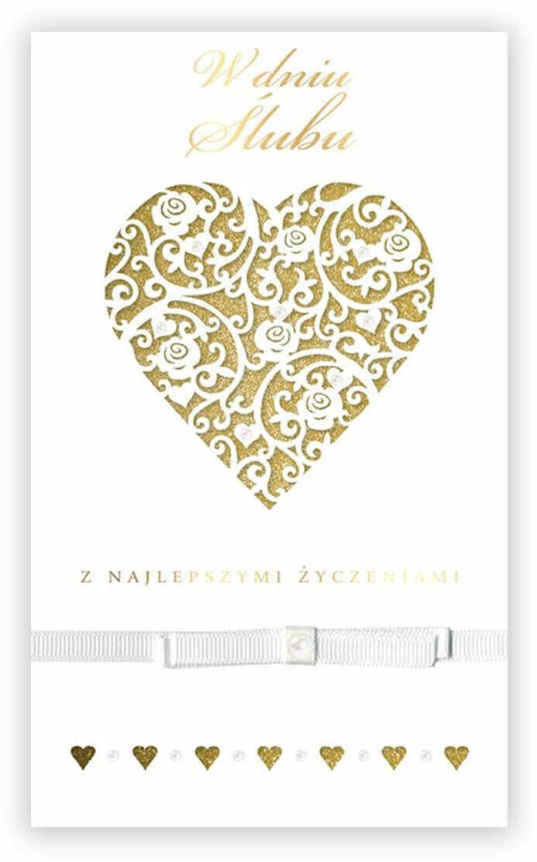 Kartka prezentowa na ślub z kopertą - 1 szt.