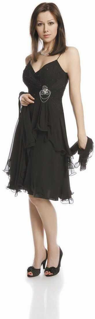 FSU703 Suknie wizytowe Sukienka CZARNY