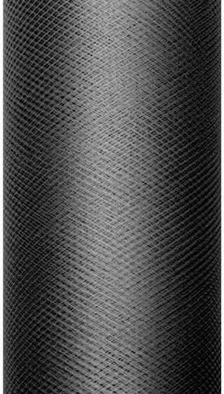 Tiul dekoracyjny czarny 50cm rolka 9m TIU50-010 - CZARNY 50CM