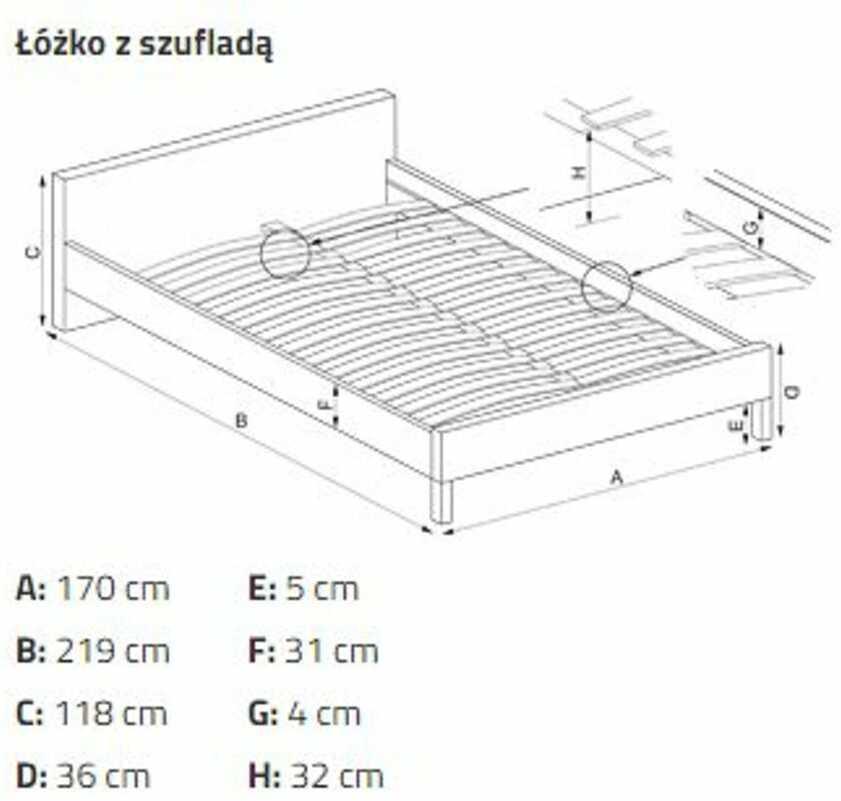 KUPON 10% NA STRONIE  Łóżko tapicerowane AVANTI Halmar Szary