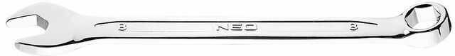 Klucz płasko-oczkowy HEX/V 8 x 120 mm 09-408