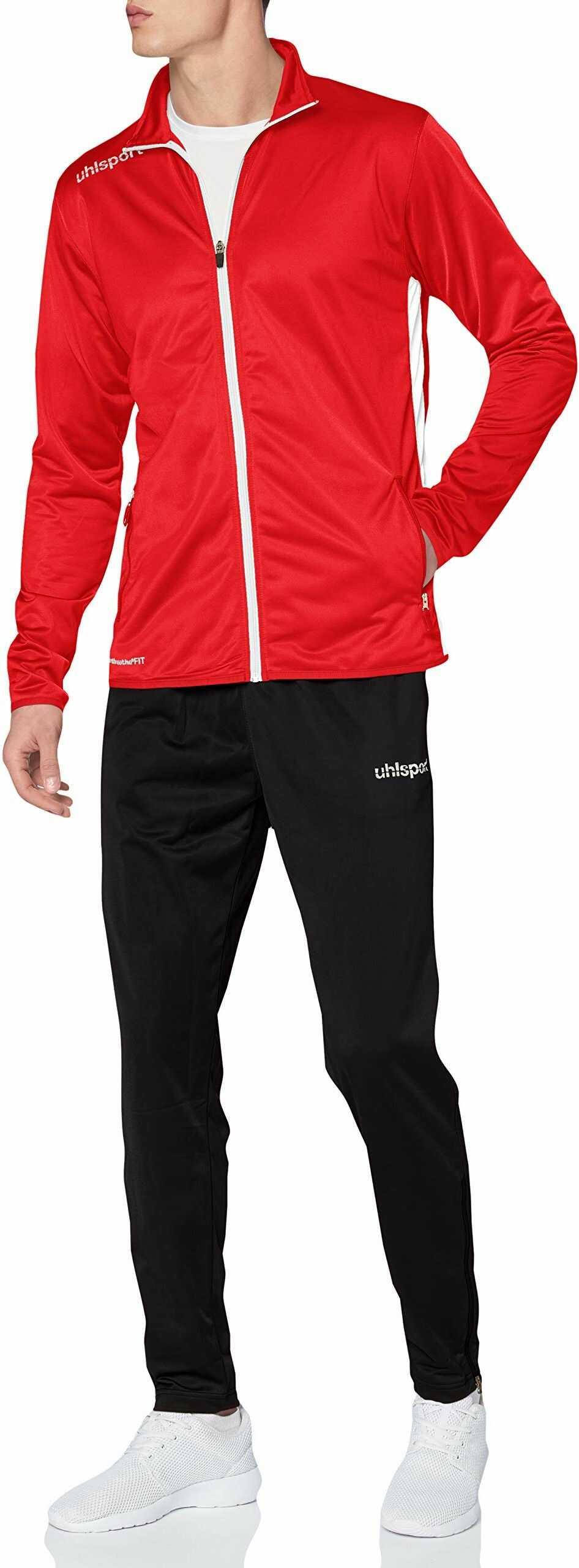 Uhlsport Essential Classic garnitur, męski, czerwony/biały, S