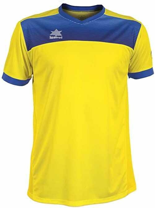 Luanvi Bolton męska koszulka tenisowa z krótkimi rękawami. żółty żółty 4XS