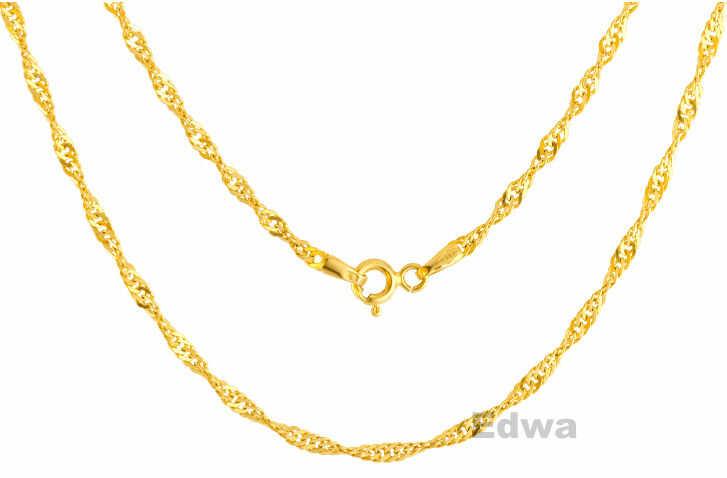Łańcuszek złoty pr. 0.585 Singapur 50 cm