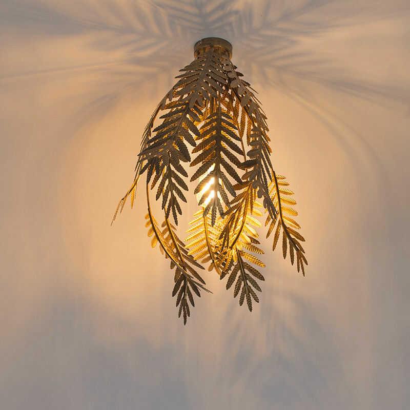 QAZQA Plafon vintage duży złoty - Botanica