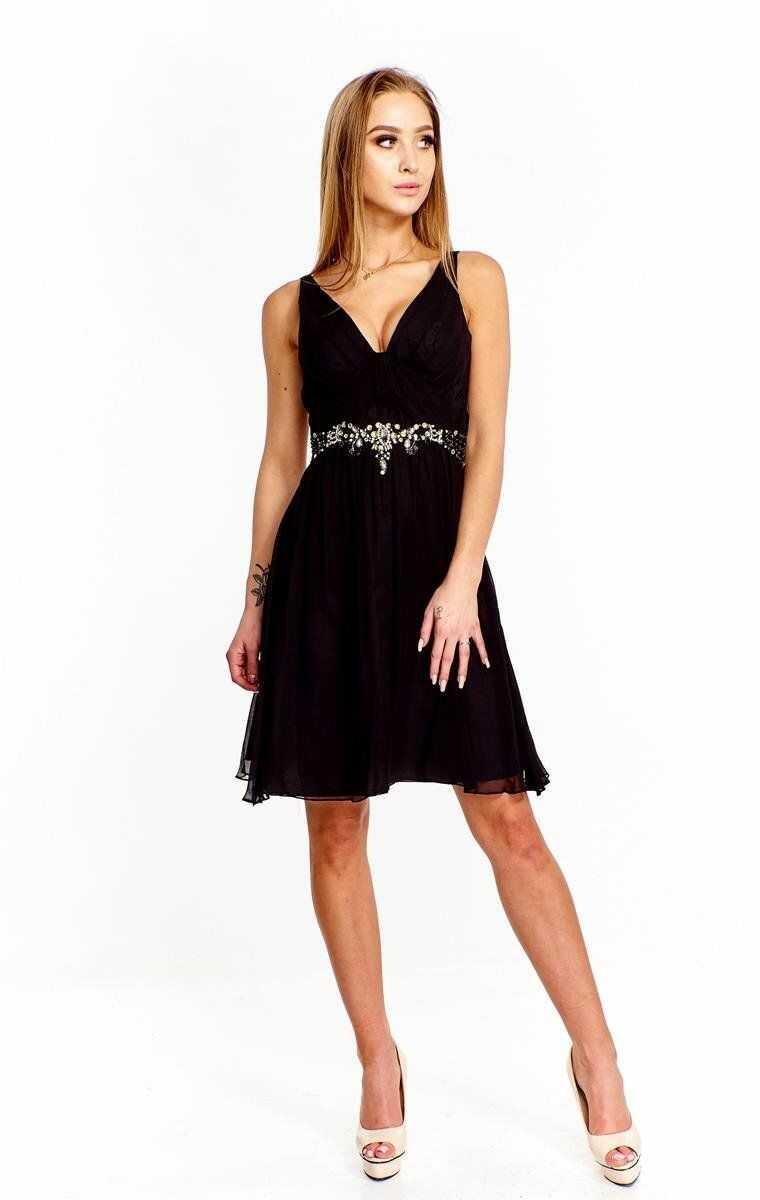 FSU704 Suknie wizytowe Sukienka CZARNY