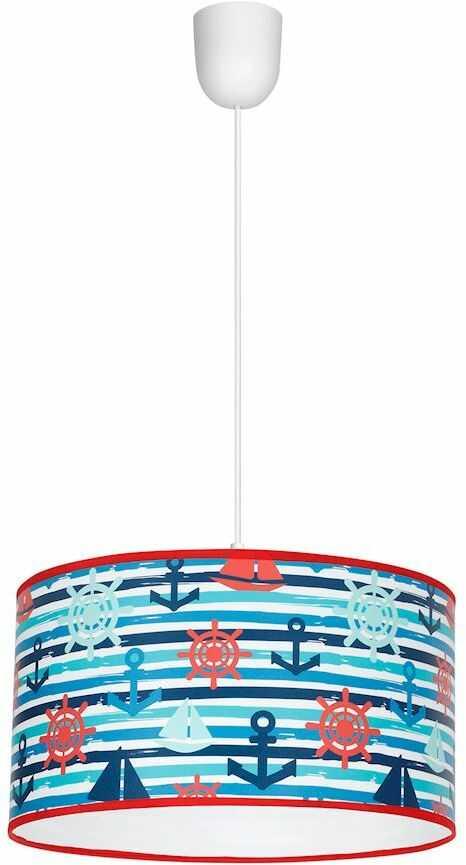 Milagro MARINE MLP4956 lampa wisząca dziecięca wielokolorowy klosz motyw żeglarski regulacja wysokości zwisu 1xE27 30cm