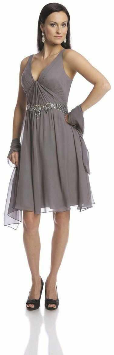 FSU704 Suknie wizytowe Sukienka SZARY