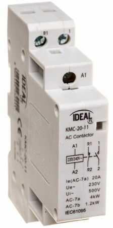 Stycznik modułowy 20A 1Z 1R 230V AC KMC-20-11 23244