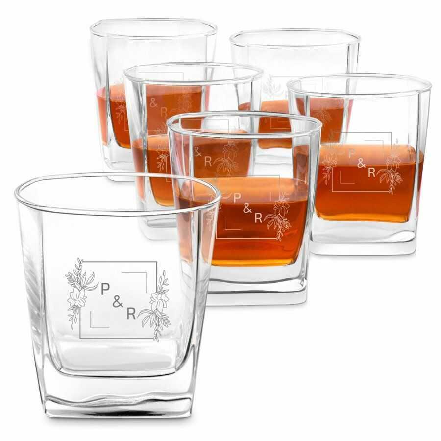Szklanki grawerowane do whisky x6 komplet dla pary ślub rocznica