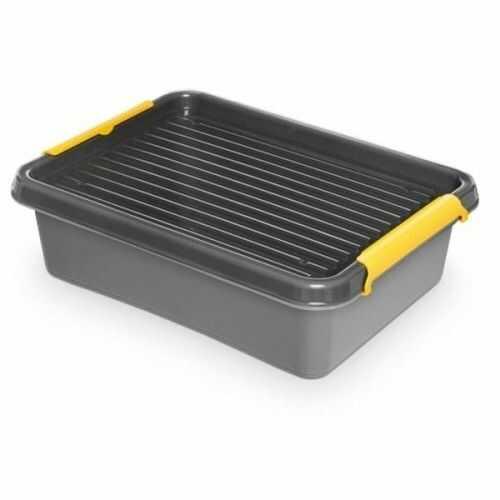 Pojemnik do przechowywania zamykany 300x110x400mm 8,5l ORPLAST SOLIDSTORE BOX szary 1 szt /OR-1512/