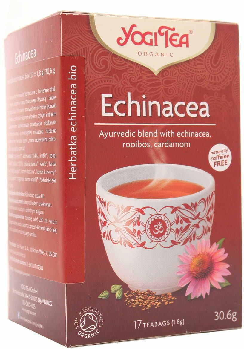 Herbatka Echinacea BIO - Yogi Tea - 17 torebek
