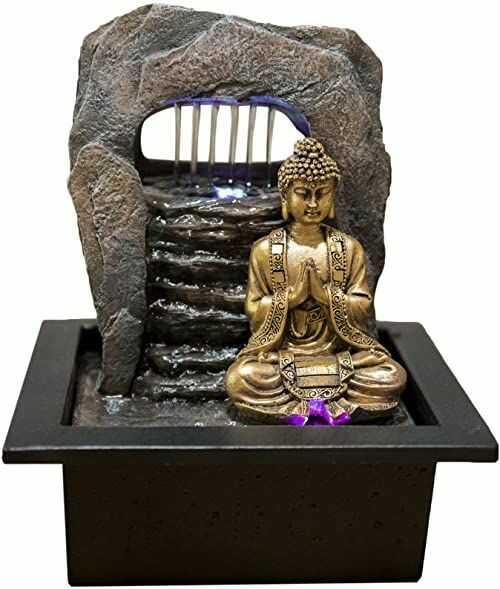 Zen''Light fontanna Zen Dao z żywicy, brązowa, 21 x 17 x 25 cm