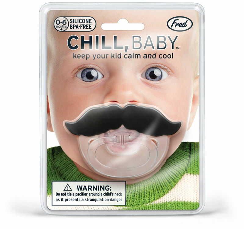 Smoczek z wąsem Chill Baby