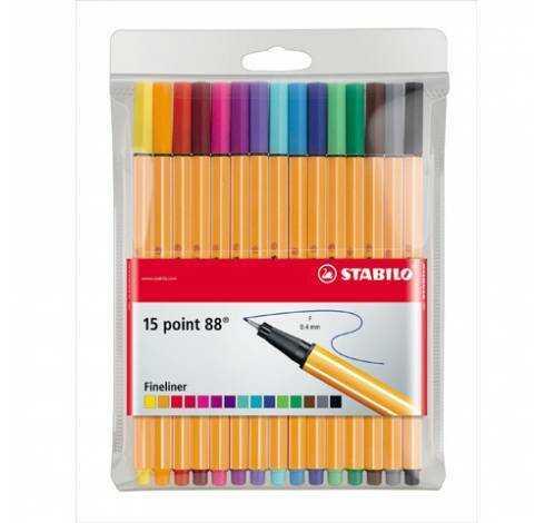 Cienkopis STABILO POINT 88, 15 kolorów - X06258