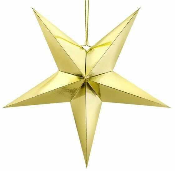 Gwiazda papierowa 70cm złota 1szt GWP1-70-019M