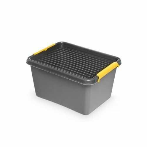Pojemnik do przechowywania zamykany 300x215x400mm 15,5L ORPLAST SOLIDSTORE BOX szary 1 szt /OR-1552/