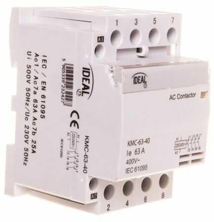 Stycznik modułowy 63A 4Z 0R 230V AC KMC-63-40 23242