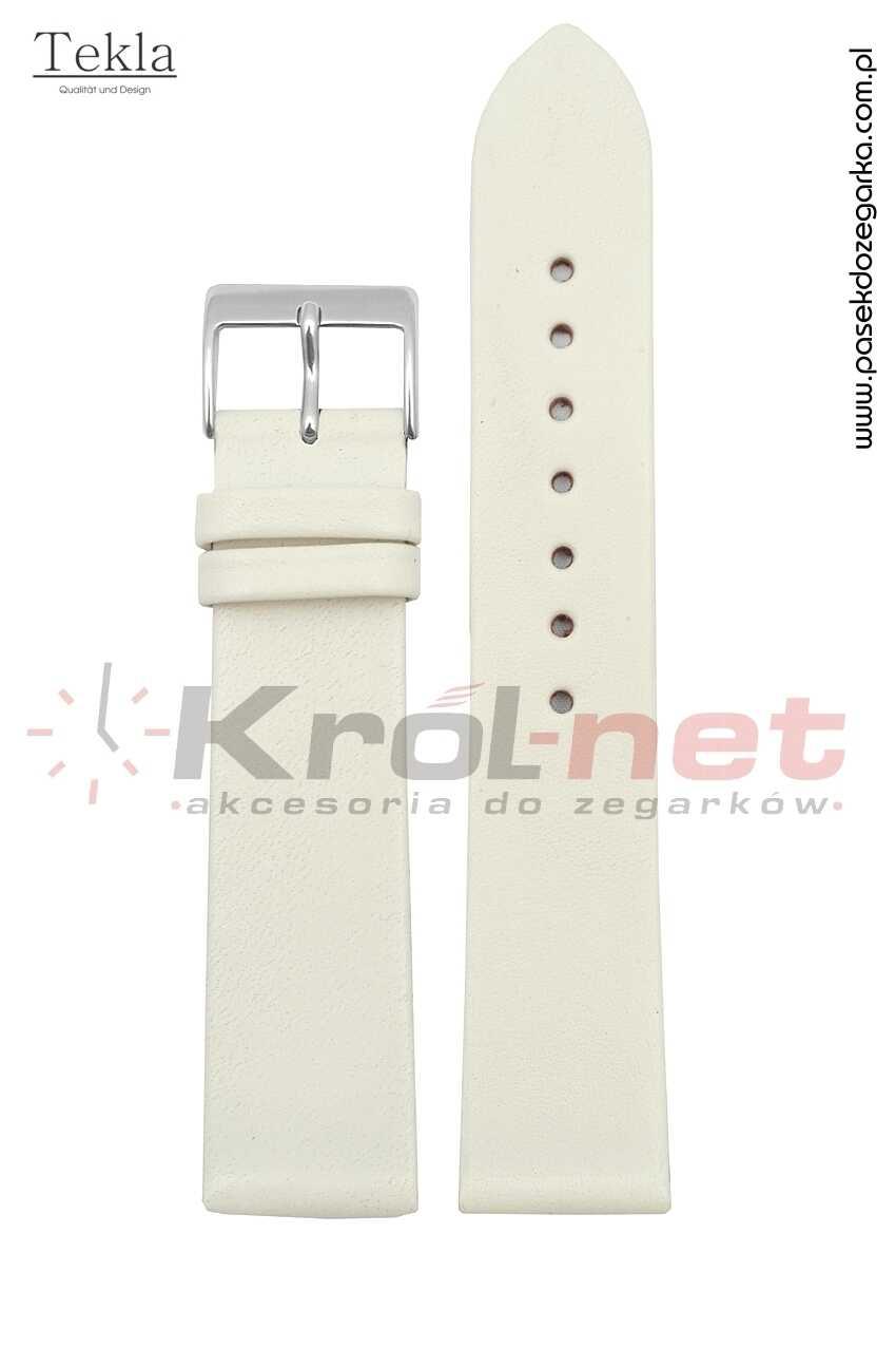 Pasek TK118KRE/24 - kremowy, gładki