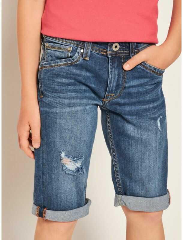Pepe Jeans Szorty jeansowe Cashed PB800333 Granatowy Regular Fit