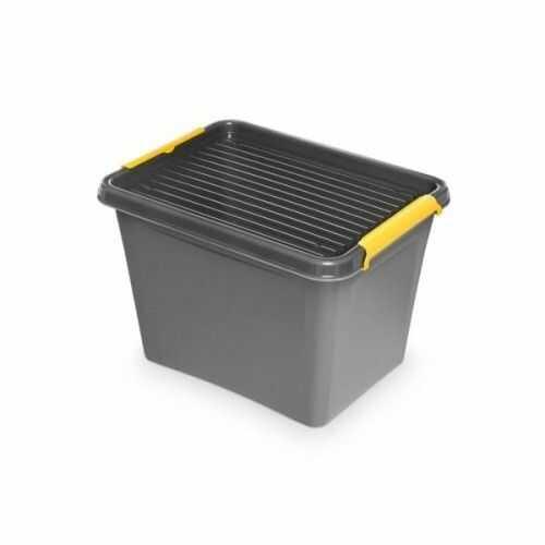 Pojemnik do przechowywania zamykany 300x260x400mm 19,0l ORPLAST SOLIDSTORE BOX szary 1 szt /OR-1532/