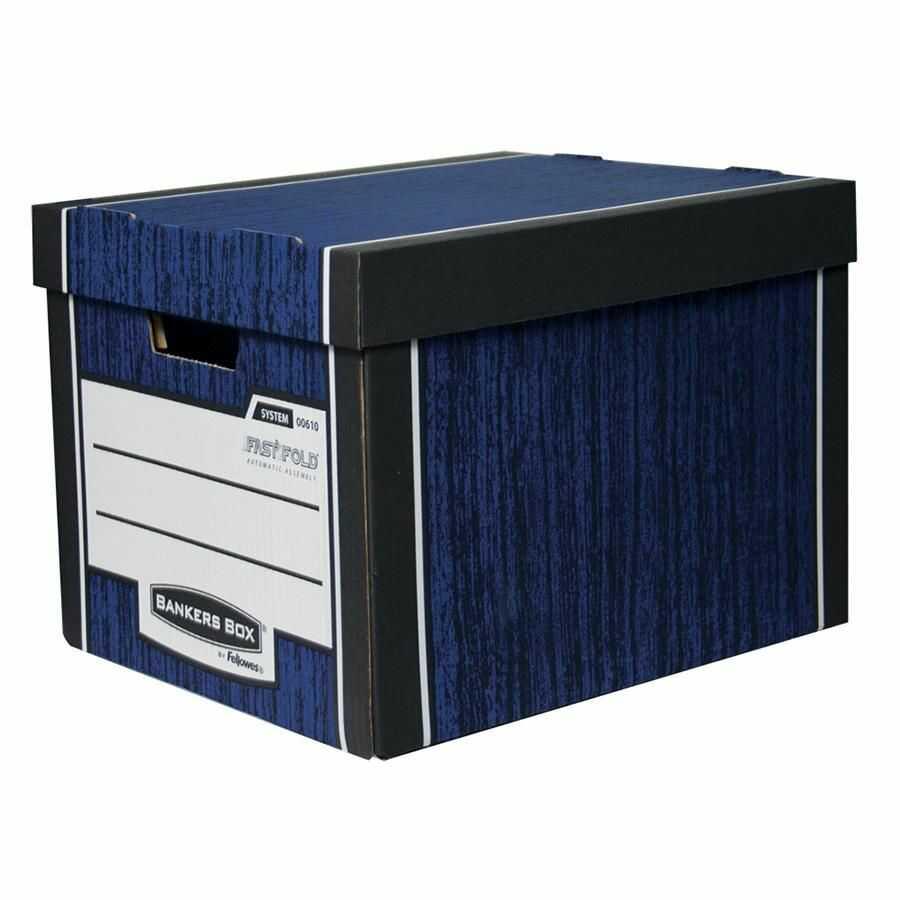 Fellowes Pudło archiwizacyjne Woodgrain Bankers Box granatowe op 2 szt