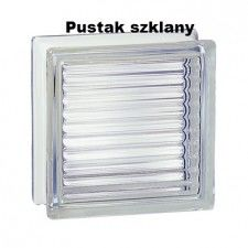 Pustak szklany 198 Clear Reeded EI15 E60 luksfer 19x19x8 cm