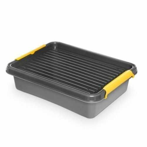 Pojemnik do przechowywania zamykany 300x80x400mm 6,0l ORPLAST SOLIDSTORE BOX szary 1 szt /OR-1502/