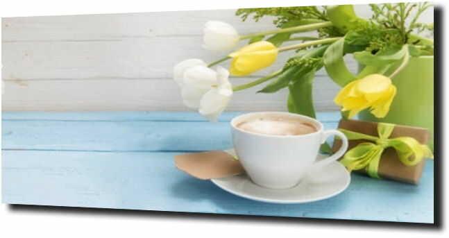obraz na szkle, panel szklany Tulipany 13 120X60