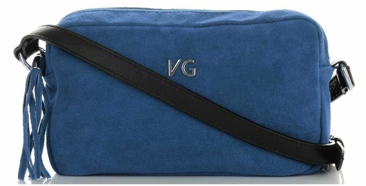 Vittoria Gotti Klasyczne Torebki Skórzane firmowe Listonoszki Made in Italy do noszenie na co dzień Jeansowe (kolory)